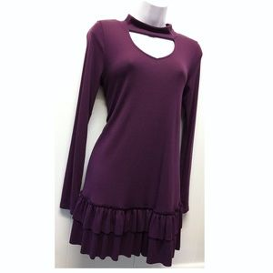 Easel | NWT Purple Sweater Tunic / Dress Layered